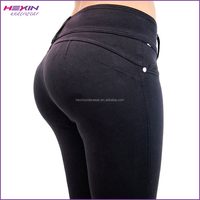 Black U Turn Push up Jeans Cheap High Waist Lady Jeans