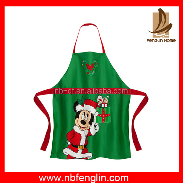 OEM custom logo cotton washable bib cooking kids kitchen apron