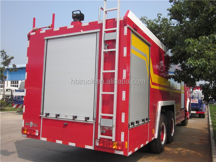375HP 10 wheels Sinotruk HOWO 10tons fire truck manufacturers