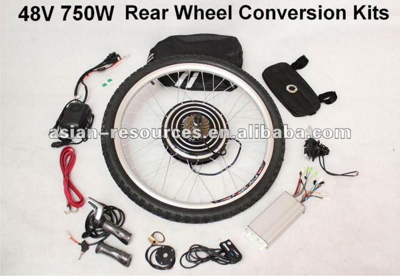 Wholesale 48V 750W ebike conversion kit 2016 New Style Most Powerful Kits Rear Wheel Kits