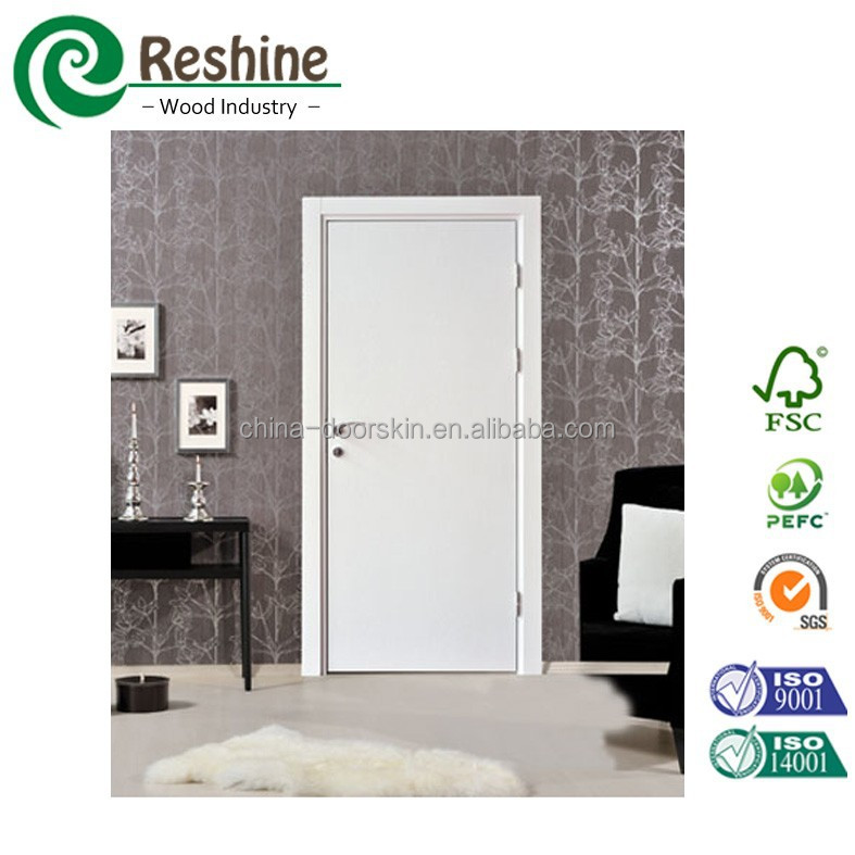 wooden interior white colour Plain mdf door