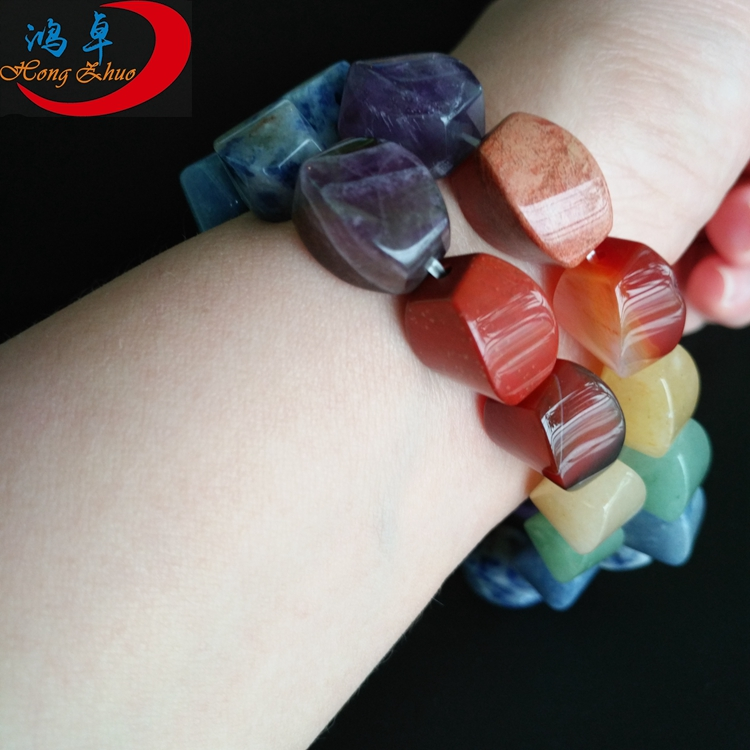 Factory cheap price crystal fashion jewelry gemstone bracelets wholesale stretch amethyst bracelet