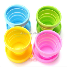 Factory price high quality color assorted silicone made folding cup