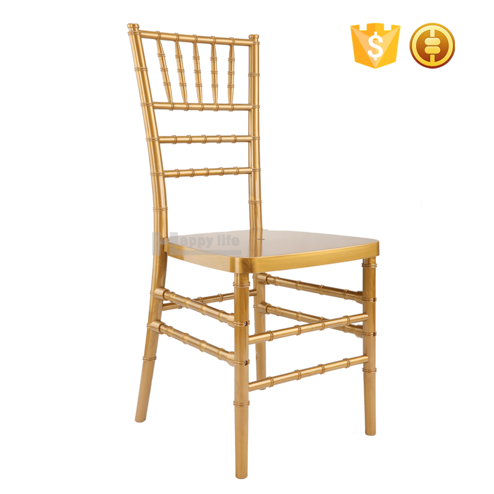 Foshan factory cheap gold wedding resin chiavari chair
