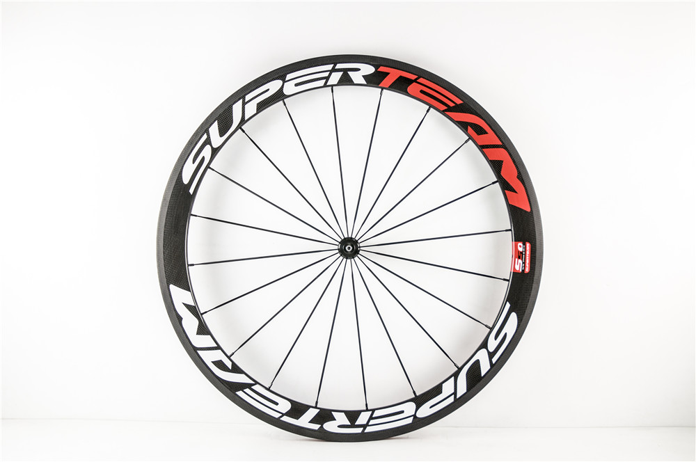 50mm road clincher carbon wheels light weight bicycle wheel carbon bike 700c wheel set wholesale
