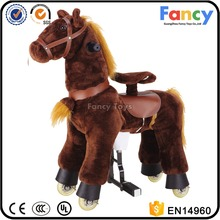 Top quality CE/ASTM/AZO walking mechanical ride on horse, ride on horse toy pony