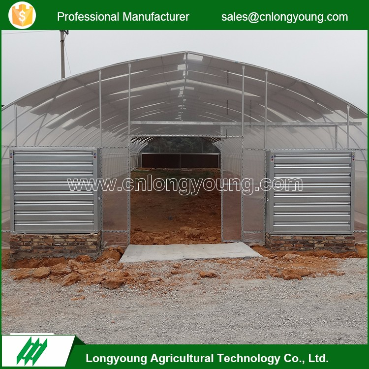 High quality agriculture PE film vegetables greenhouse with cooling system