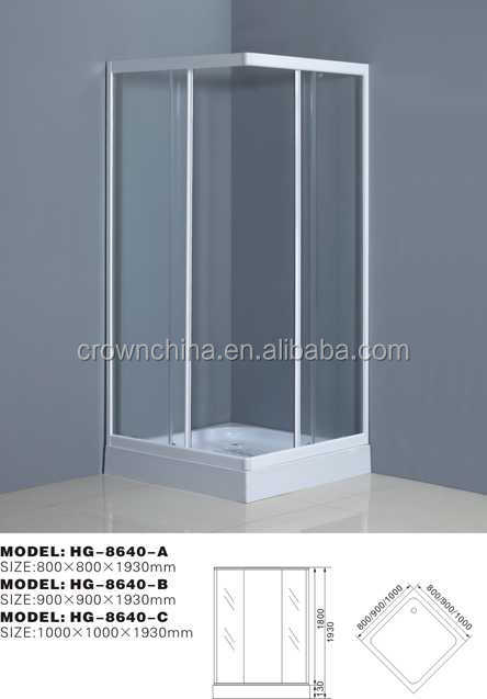 New design high quality steam sauna shower room bubble glass shower door