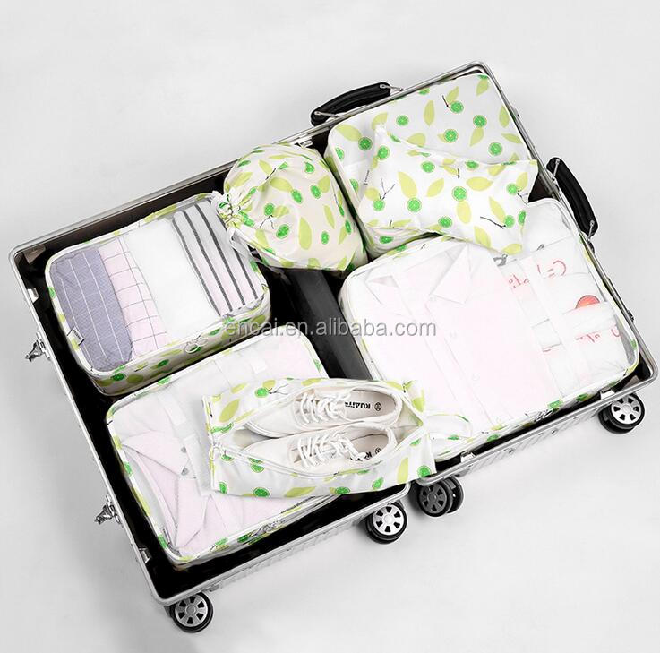 Encai Travel Clothes Packing Cube Bags 7 in 1 New Design Luggage Organizer Bag Set