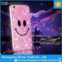 For iPhone 5 Back Cover Housing, Smile Face Bling Glitter Star Phone Shell Cover For iPhone 5