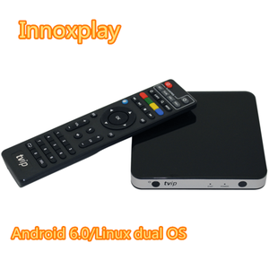 Dual OS 4K Android 6.0 /Linux tv box bulit in 2.4 G+5G dual Wifi Airplay better than MAG 254 smart tv streaming box TVIP 605
