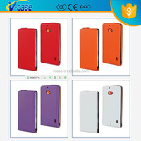 Top Selling Vertical Flip Cover PU Leather Mobile Case For Nokia Asha 300