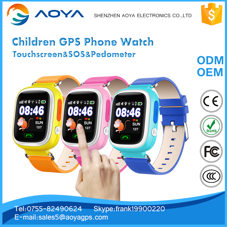 GSM/GPRS/LBS/WIFI Real-time Tracking Kid Gps watch tracker with smart phone voice calling