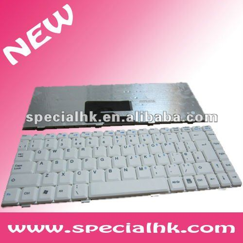 White Notebook Keyboard for MSI S260 S270