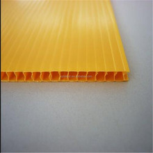 Yellow board add flame retardant filler Corrugated Twinwall Polypropylene Sheet
