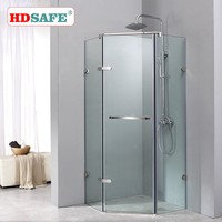 AISI304&316 satinless steel hinge style shower glass enclosures