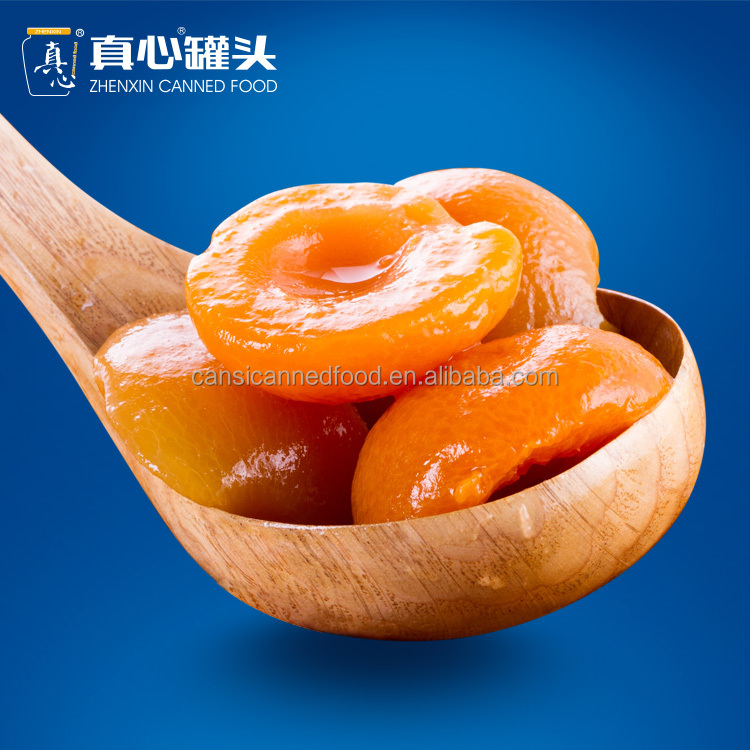 China Top 10 Canned Food Factory Made Zhenxin Apricot fruit Canned in Light Syrup