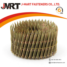 15 degree galvanized wire coil nails smooth shank