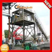 horizontial twin shaft double shaft HZS75 wet dry concrete mixing plants