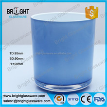 Promotional colored candle container, decorative candle holder made in china