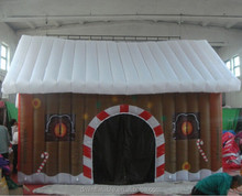 2014 mini inflatable christmas house decoration