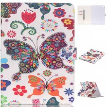 High Quality Colorful Patterns PU Leather Flip Case Cover for iPad Air 2 with Kick Stand