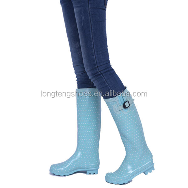 New Style Fashion Sexy Long Rubber Rain Boot for Women