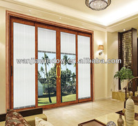 aluminum doors with blinds inside