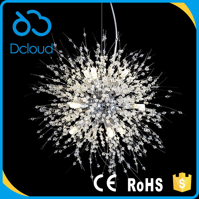 Dcloud <strong>modern</strong> chandelier crystals outdoor pendant hanging light for livingroom bedroom restaurant kitchen