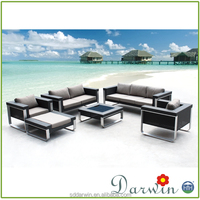 Artificial Outdoor & Indoor Fashion PE Rattan Sofa Garden Used Furniture (DW-SF029)