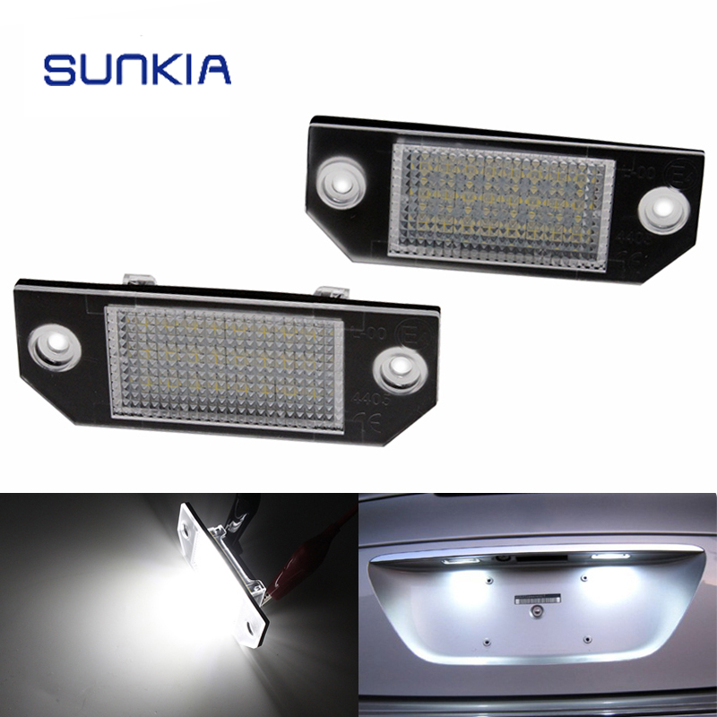 SUNKIA LED License plate Lamp with inside canbus for Ford F o c <strong>u</strong> s with E-mark