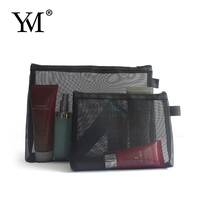 2018 fashion cheap mesh travel cosmetic make up bag