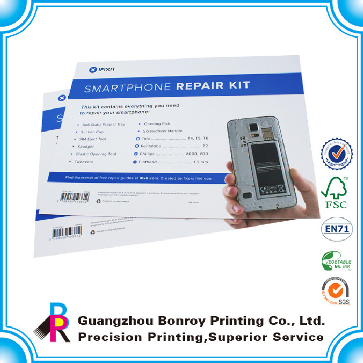 Art paper printing small portable phone leaflet