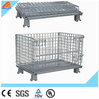CE free design wire mesh cage with a cover metal bin storage container