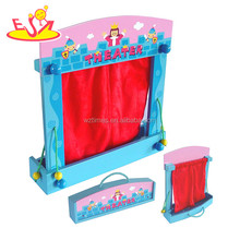 wholesale funny wooden toy puppet theatre most popular wooden toy puppet theatre W10D140