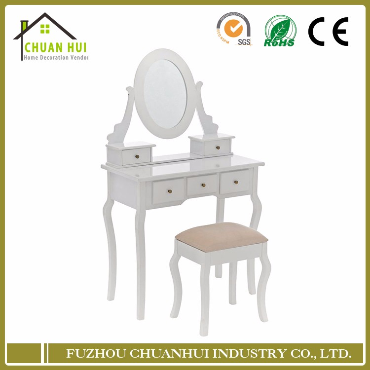New simple design carving modern mdf wood dressing table