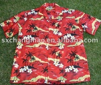 coconut tree printing cheap hawaiian shirts