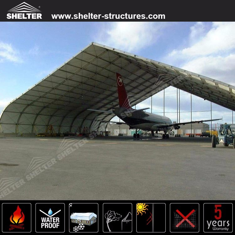 Shelter TFS aircraft hangar tents arch aluminum frame marquees for military