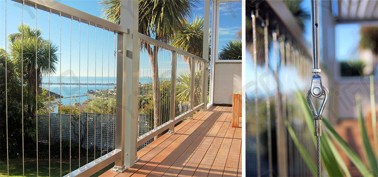 Wire Rope Railing Systems Or Wire Staircase Railing