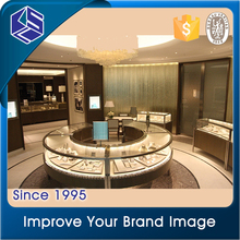 Nice design mirror jewelry store cabinet for jewellery display showcase