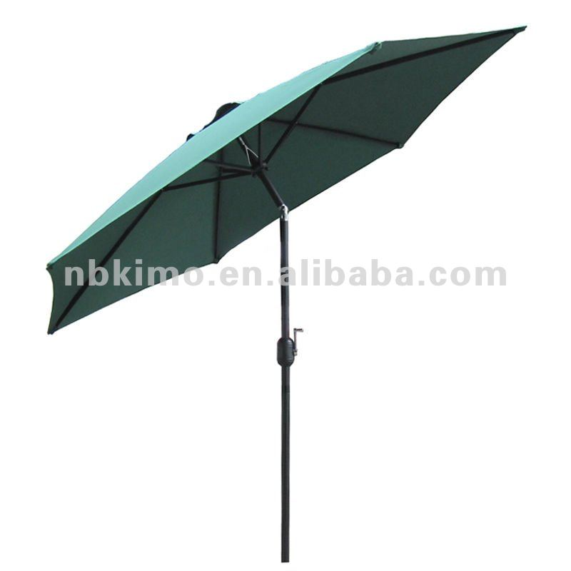 Crank Open Aluminum Outdoor Umbrella, Outdoor Furniture Patio Umbrella