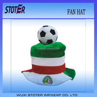 party soccer team supporter cheering fun hat