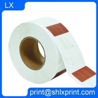 custom self adhesive vinyl pvc/paper material sticker label