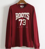 2016High quality long sleeve mens 180g 100% cotton single jersey men's brand t shirt