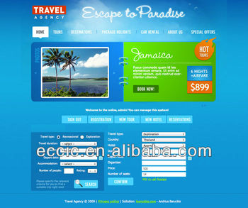 Travel agent company website design, travel website SEO services
