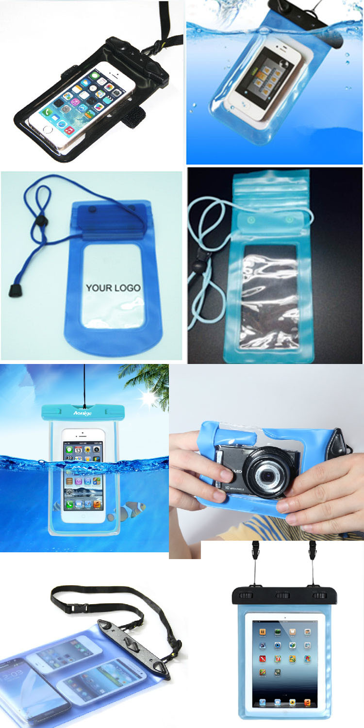 For samsung/Iphone 6 plus smartphone pvc rubber waterproof dry bag 17.5*20cm (SD-WB-040)