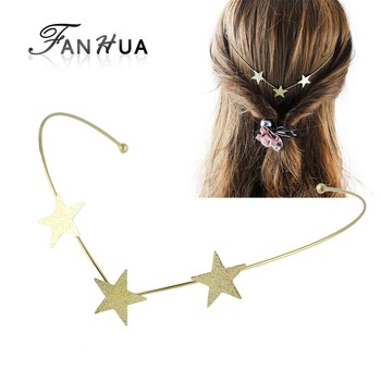 Fashion Gold Color Star Shape Hair Accessories for Girls