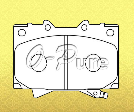 Car parts for used Japanese cars o-pure less metal brake pad OE 04465-60220 None abestos good price best seller