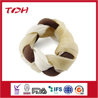 Chicken/Beef Flavor Rawhide Wreath For dog,good quality dog food.