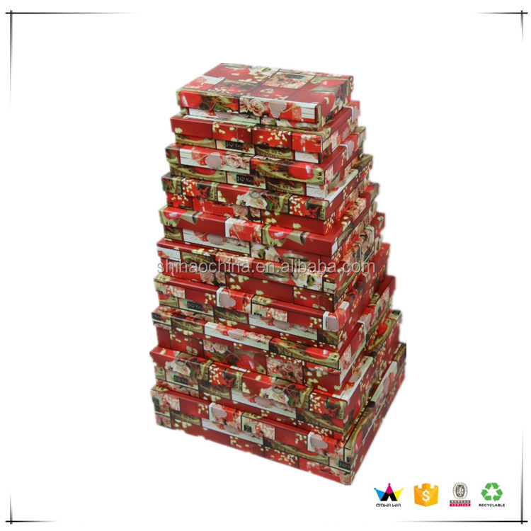 607 shihao wholesaler fine flat rectangle gift recycled paper boxes